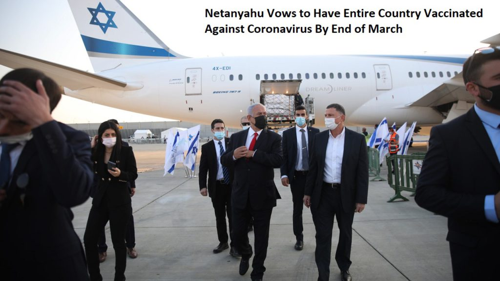 Netanyahu Vows to Have Entire Country Vaccinated Against Coronavirus By End of March
